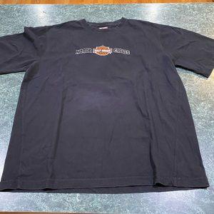 Harley Davidson Motorcycles Sewn Skull Shirt Large